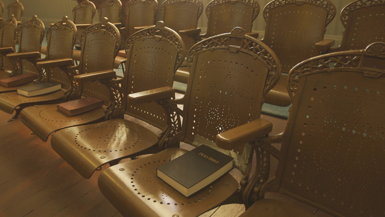 Union Springs AL Prebyterian Church Theater seating donated by Tallulah Bankhead